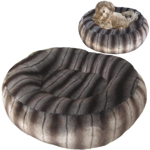 Mink faux fur dog bed